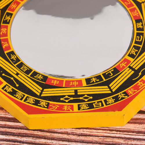 """4/"""" Inch Chinese Dent Convex Bagua Mirror Blessing House Protect Feng S✔UK"""