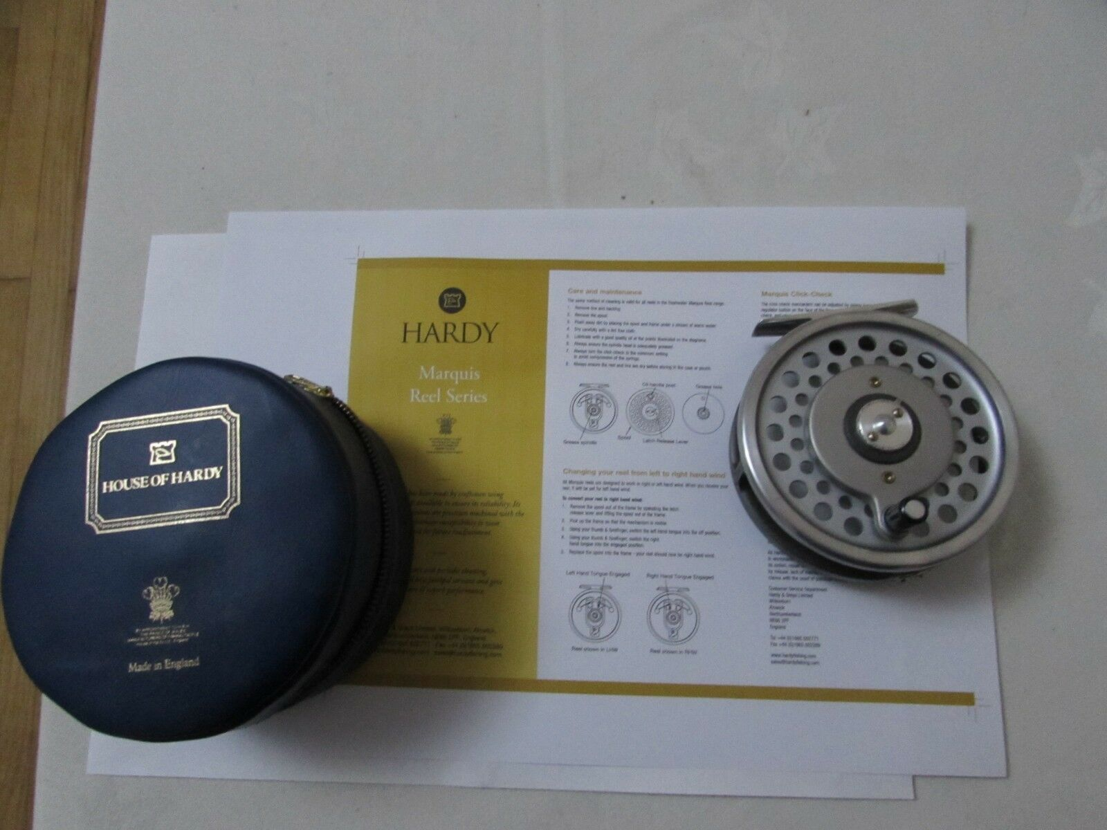 Stunning vintage Hardy  Marquis 8 9 multiplier trout fly fishing reel & case etc.  more order