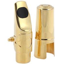 Professional Soprano Saxophone Mouthpiece #5 w Cap Ligature Pads Gold Plated
