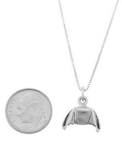 STERLING SILVER NURSE/'S HAT WITH BOX CHAIN NECKLACE
