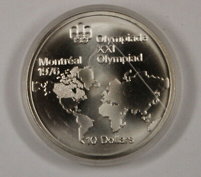 1973 Canada RCM 10 Dollar Silver 1976 Montreal Olympic Games Silver Coin