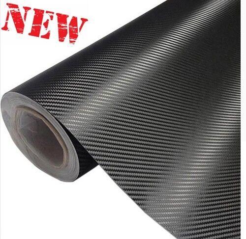 3D Carbon Fiber Vinyl Car Sticke Motorcycle Wrap Sheet Roll Film 30cmx127cm