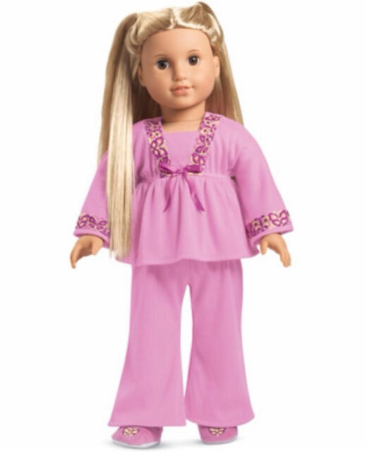 american girl doll julie s pajamas pink pj s slippers f6330 fast