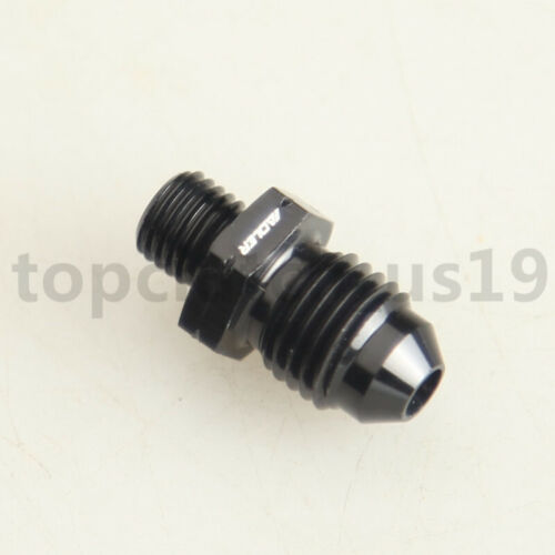4AN AN4 Male Flare To M8x1.0 Metric Straight Fitting Adapter Black