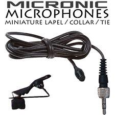 TIE CLIP LAPEL LAVALIER MICROPHONE - SENNHEISER EW100 EW300 EW500 G2 G3 SK20 XSW