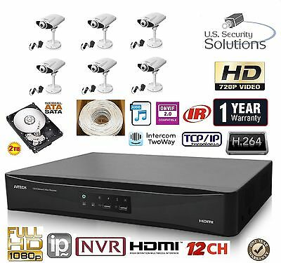 12ch Security Network Nvr System Package Amp 2tb Hd Amp 6 Ip
