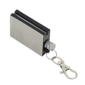 Permanent Metal Match Box Lighter Camping Keyring Novelty