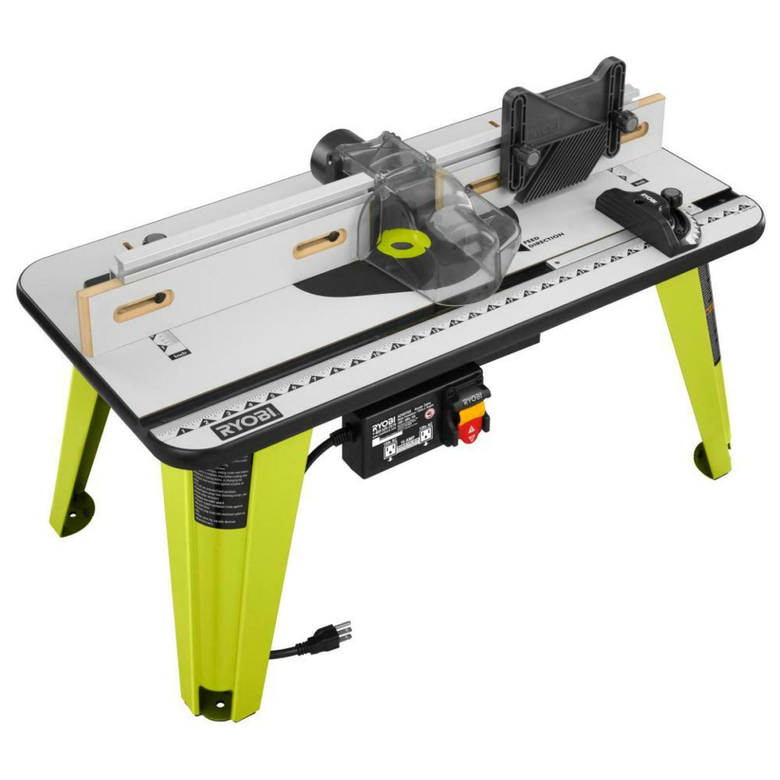 Router Table 32 in x 16 in Universal Power Tool in Grün with 5 Throat Plates