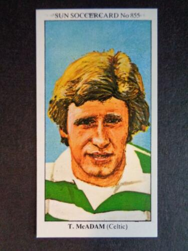 Tom McAdam The Sun Soccercards 1978-79 Celtic #855