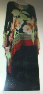 Coldwater Creek Dress  Black Sheath with Sheer Over Blouse Silk Size 18W Plus