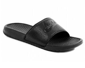 sports shoes 16413 5557e Chargement de l'image en cours Nike-Benassi-Jdi-343880-001-Hommes-Slider- Noir-