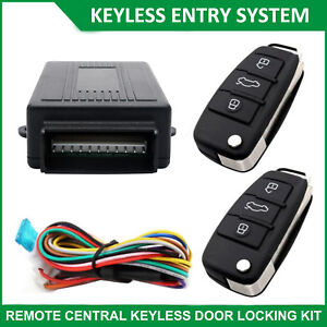 Car-Keyless-Entry-System-Remote-Control-Central-Door-Locking-Kit-2-Remotes-New
