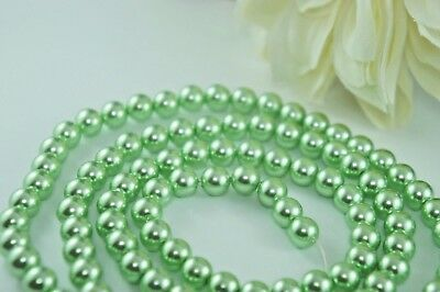 85pcs Beads-10mm Green Color Imitation Acrylic Round Loose Pearl Spacer