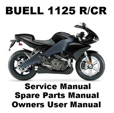 BUELL 1125 1125R 1125CR Owners Workshop Service Repair Parts Manual PDF On CD R EBay