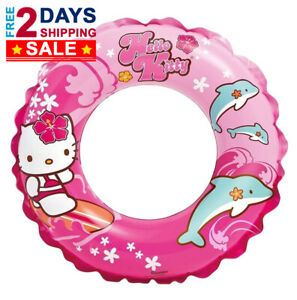 Hello-Kitty-Swim-Ring-Inflatable-Float-Swimming-Pool-20-034-Diameter-for-Ages-3-6