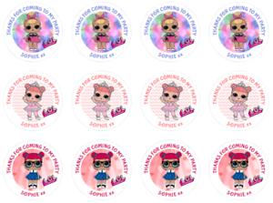 48-Personnalise-Fete-Sac-Stickers-LOL-poupees-Sweet-Sac-Seals-40-mm-etiquettes