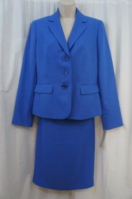 Evan Picone Suit Sz 6 Sky bluee  Classic Time  Business Career 2 PC Skirt Suit