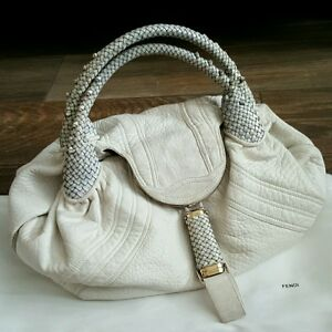 d1b62108bd8 Auth Fendi Spy Bag with Woven Handles   Hidden Compartments