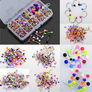 90x-Wholesale-Body-Jewelry-Eyebrow-Navel-Belly-Tongue-Nose-Piercing-Bar-Ring-SEA