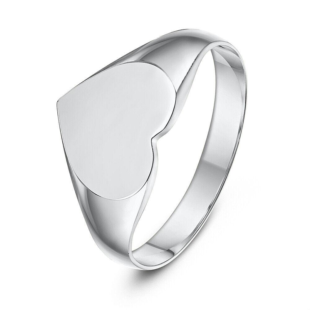 Forma de Corazón women Anillo con Sello silver de Ley Contraste 925 Anillo