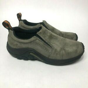 Merrell-Jungle-Moc-Pewter-Women-039-s-Size-6-5-Slip-On-Loafer-Suede-Hiking-Shoes
