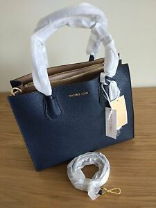 Details about Michael Kors Mercer Large Leather Tote price tag,care card, QR code dust bag