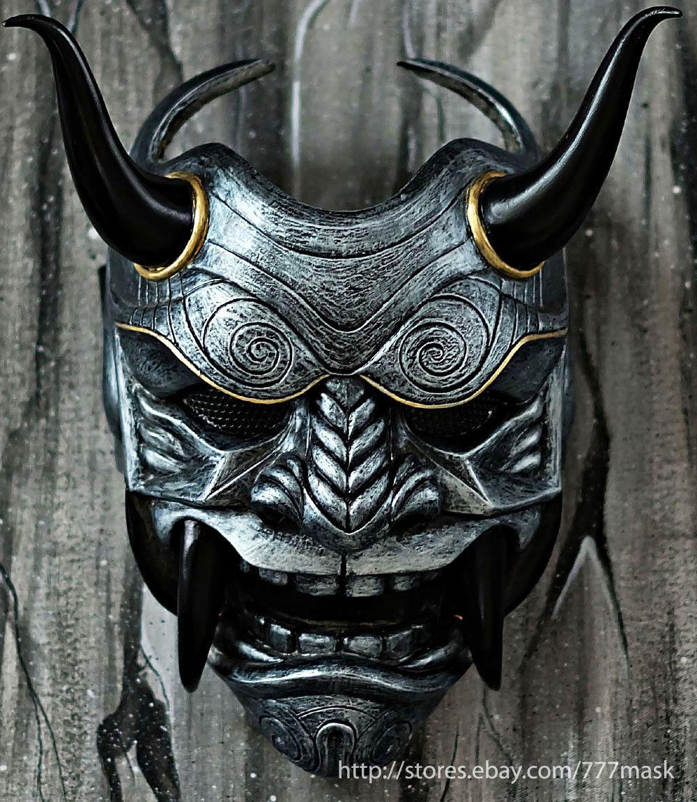 Samurai Asesino demonio Oni Airsoft MásCochea Disfraz CosJugar mal Hannya Guerrero DA04