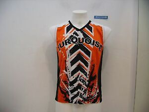 Man Beach Turquoise Tank Tennis Black Top M Size Orange Sleeveless qUfXRZ
