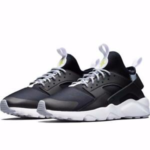 4f660f3e2108f NIKE AIR HUARACHE RUN ULTRA 819685 014 BLACK WHITE WOLF GREY VOLT ...
