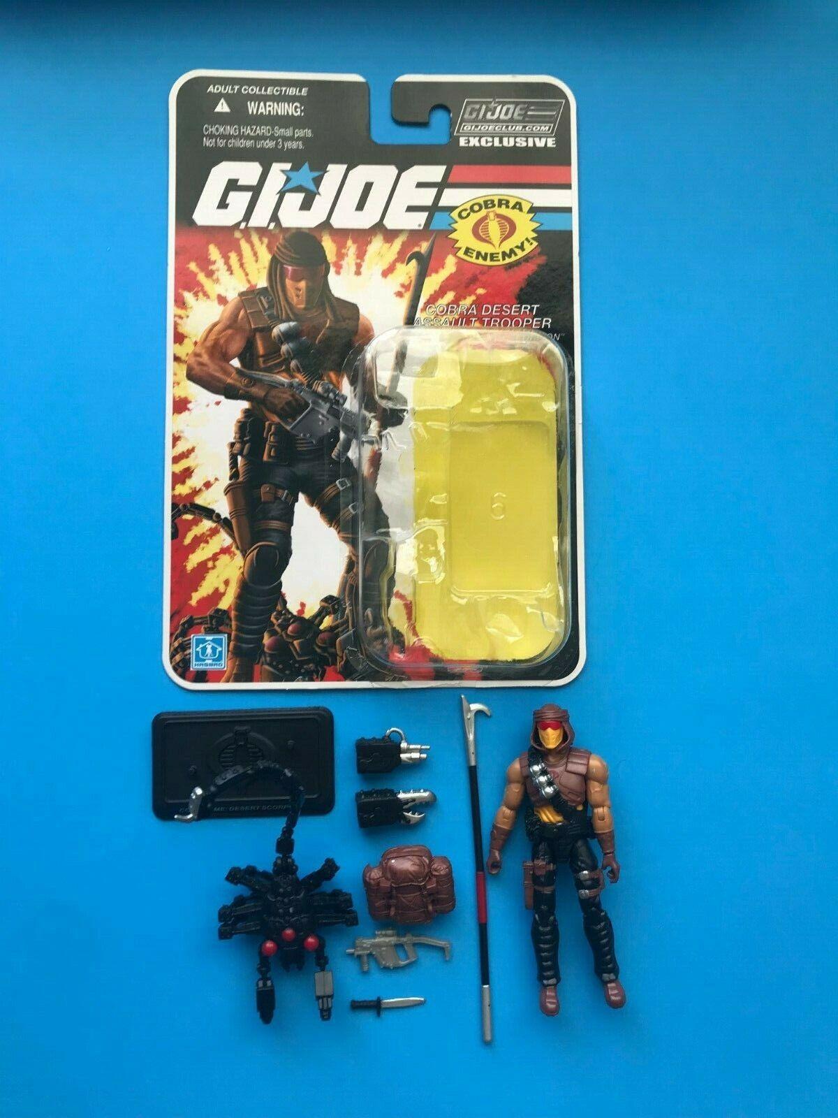 Gi Joe Cobra Desert Scorpion Trooper FSS 2.0 Coleccionistas Club Suelto Completo