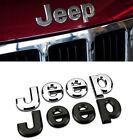 Matte 3D JEEP Hood Trunk Tailgate Emblem Logo Stickers Badge Set 2pcs