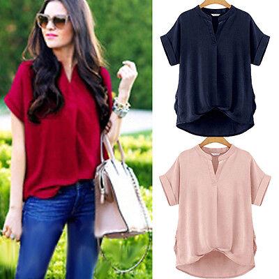 New Fashion Women Short Sleeve Top Casual T-Shirt Blouse Loose Shirt Summer Tops