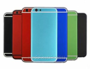 check out c20a9 a854e Details about Colorful Metal Back Rear Battery Housing Cover Case  Replacement For iPhone 6