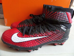 100% Auth Nike LunarBeast Elite TD Men's Football Cleats Red sz 10 [779422-016]