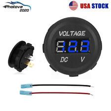 Blue Led Digital Voltmeter Car Motorcycle Voltage Volt Gauge Panel Meter 12v 24v