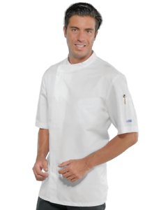Image is loading CHEF-JACKET-CHEF-BILBAO-SHORT-SLEEVE-WHITE-POPPERS- f03895c438c6