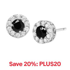 Classic Round Stud Earrings with Cubic Zirconia in Sterling Silver