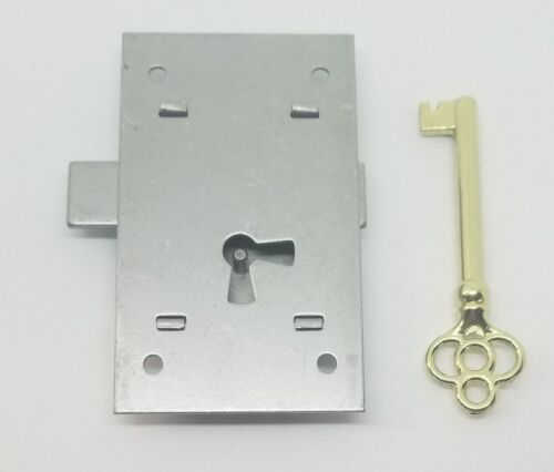 """LARGE Flush Mount Cupboard Lock 2 x 3/"""" two way left /& right cabinet desk chest"""