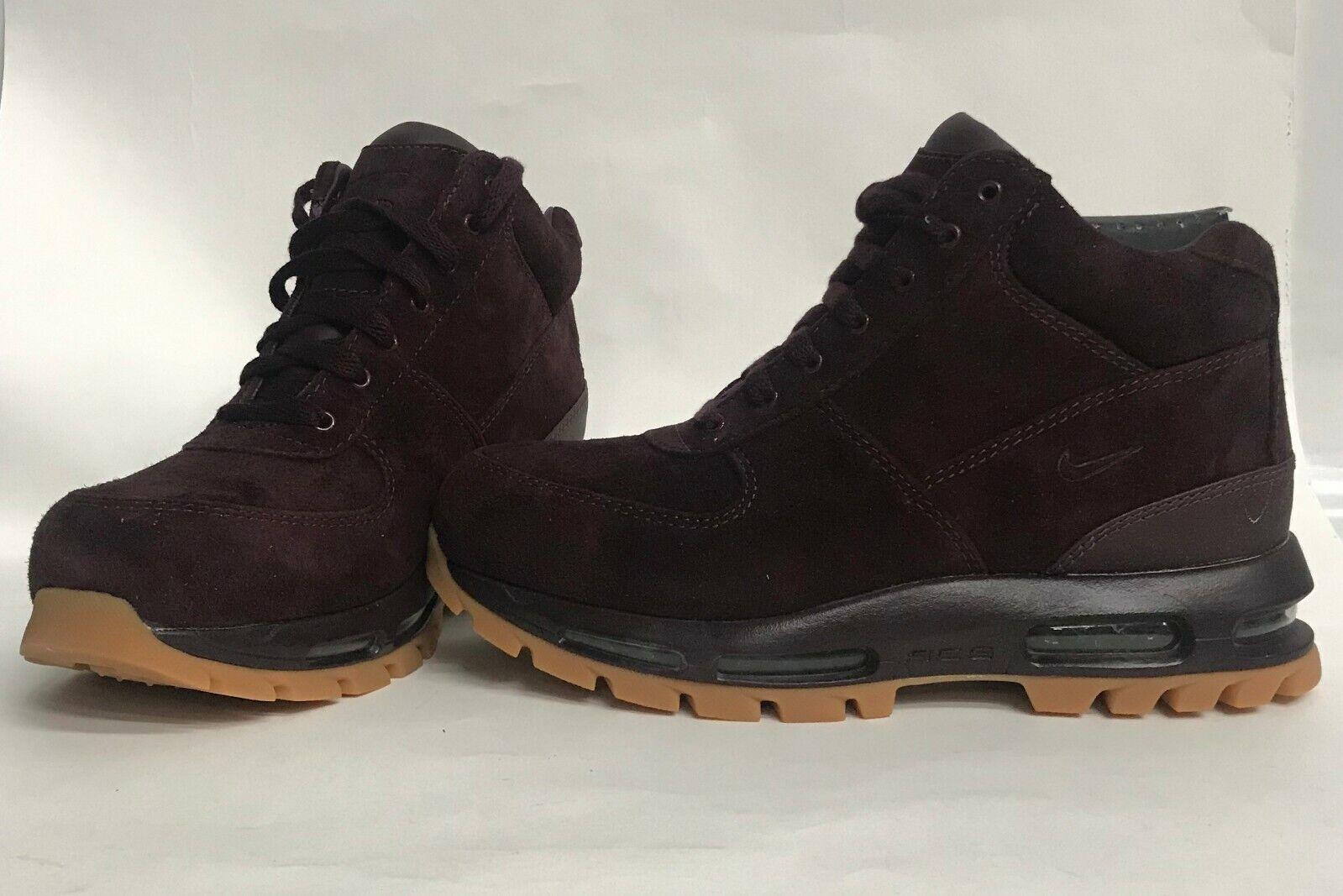 Men's size 12 Nike Air Max Goadome 2013 ACG Boots Deep Burgundy-Gum 599474-600
