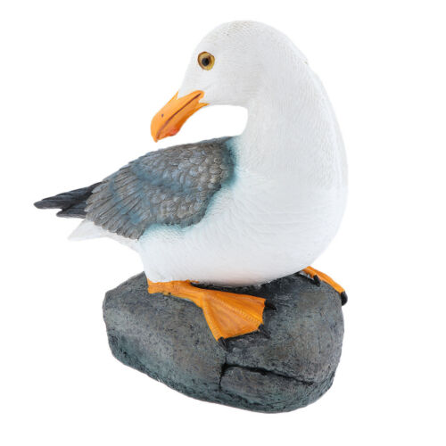 Sitting Seagull Statue Outdoor Sculpture Bathroom Nautical Themed Room Deco