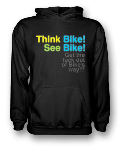 see bike Mens Hoodie Quote Think bike