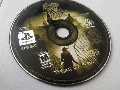 Alone In The Dark The New Nightmare Ps1 Playstation Disc 1 Only