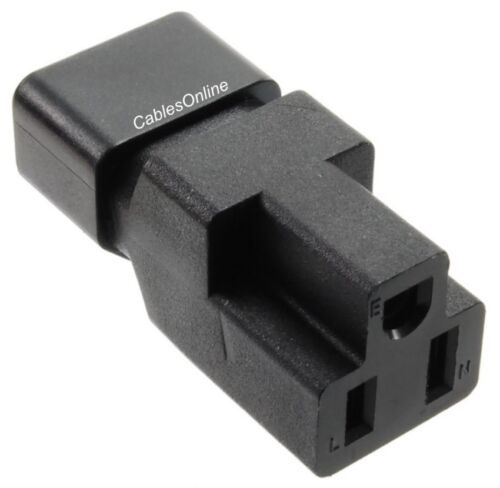 IEC 320 C14 Male to Nema 5-15R Female Power Adapter PC-P45