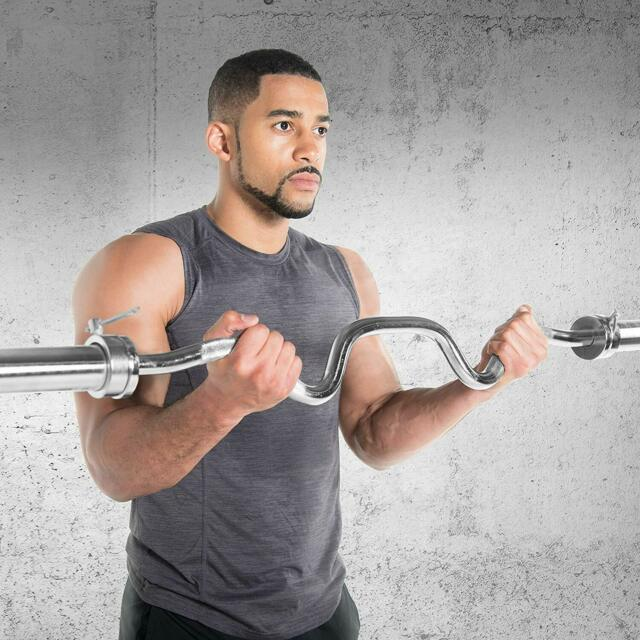 CAP Barbell Olympic Super Curl Bar One Size