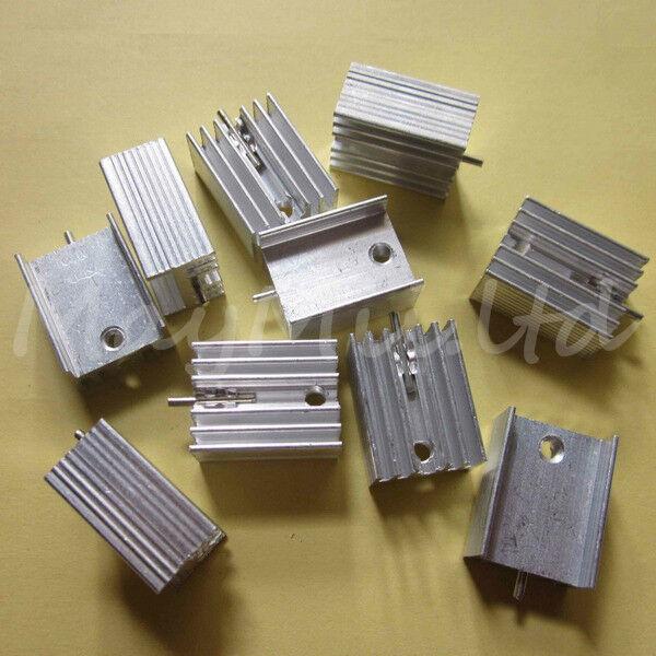 5pcs 21x15x10mm IC Aluminum Heat Sink With Needle TO-220 Mosfet Transistors ML