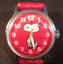 """Vintage  1958 Timex wrist watch """"Red Snoopy Dancing with second hand"""" Schulz"""