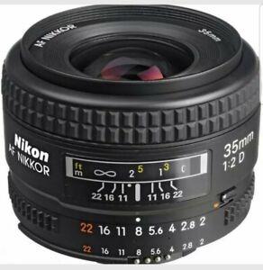NEW-Nikon-35mm-Nikkor-F2-AF-D-Lens-UK-Stock