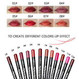 12-un-Set-impermeable-de-larga-duracion-Lapiz-Delineador-De-Labios-Maquillaje-Delineador-de-12