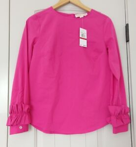 NEW-Michael-Kors-Electric-Pink-Blouse-XS
