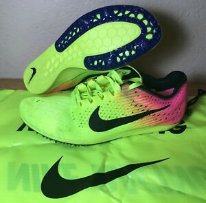 1258e1b17a11 Nike Zoom Matumbo 3 Track Racing Distance Shoes Mens SZ Volt Pink ...